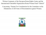 "Written Comments of the European Roma Rights Centre and the International Charitable Organization Roma Women Fund ""Chiricli"""